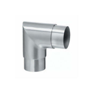 Sharp 90º Corner Connector for Stainless Steel Ø 42.4mm Handrail