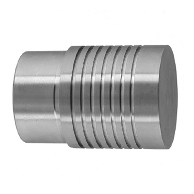 7 Groove End Cap for Ø 42.4mm Stainless Steel Handrail