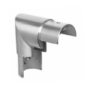 Stainless Steel 90º Vertical Connector to Suit Ø 42.4mm Slotted Handrail