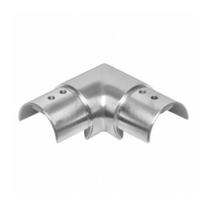 Stainless Steel 90º Corner Connector for Slotted Handrail Tube