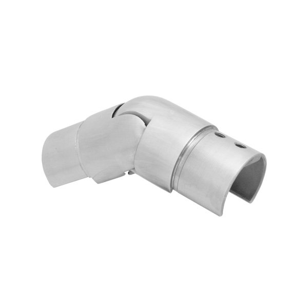Brushed Satin Stainless Steel, Downwards Slotted Tube Connector, Ø 42.4mm