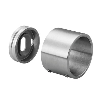 Grade 316 Stainless Steel Wall Flange for Handrail and Slotted Handrail