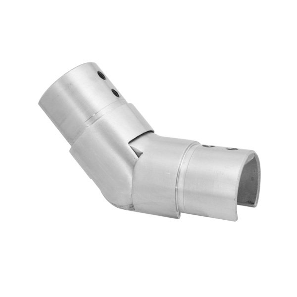 Brushed Satin Stainless Steel, Upwards Slotted Tube Connector, Ø 42.4mm